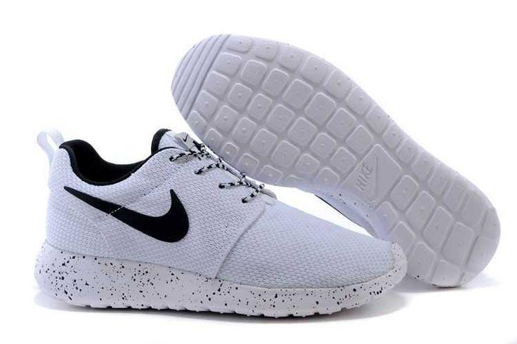 7b60520c75843 nike roshe run womens shoes oreos all black white hot