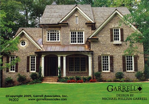 Vinings House Plan 96202, Front Elevation, Traditional Style House Plans