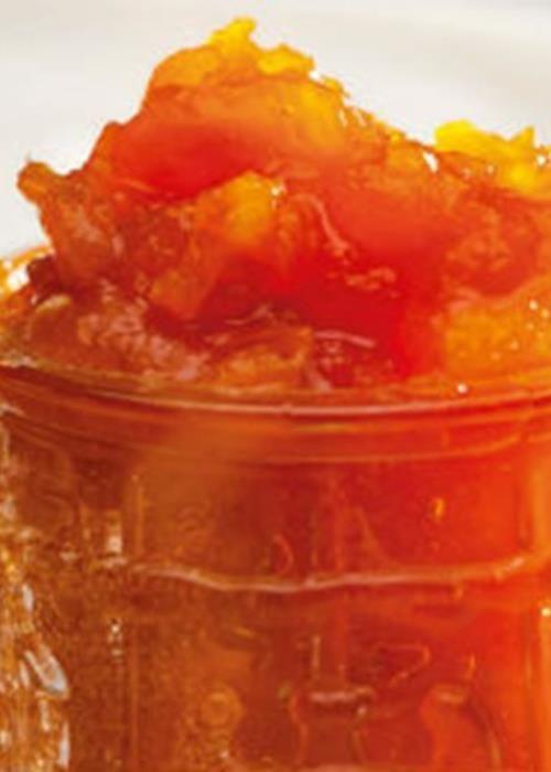 Doce de cenoura com laranja e tâmaras