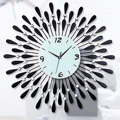 Long Dream 24 modernen Wassertropfenmuster Eisen-Wanduhr ,Wand Uhr Wanduhr Design Uhr Wanduhr Uhr Deko Wandtattoo Dekoration Uhren Wanduhr Design