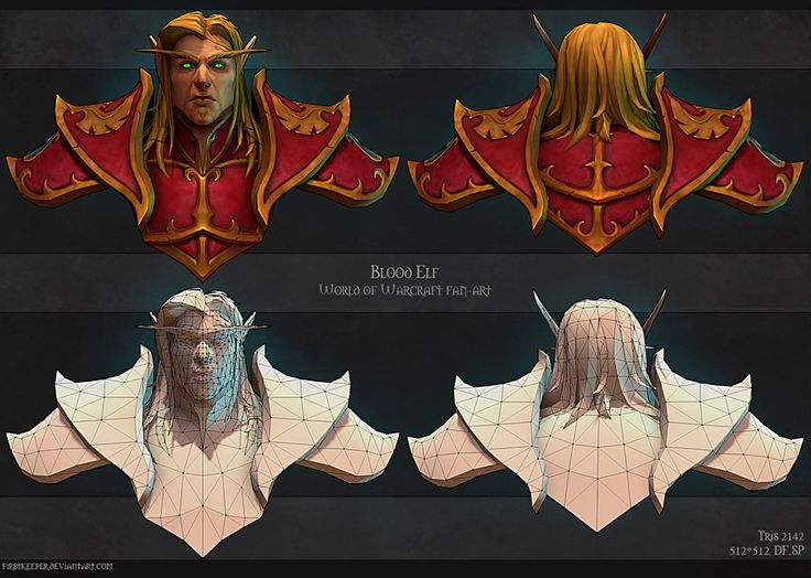 Blood elf. Construction shot. by FirstKeeper.deviantart.com on @deviantART