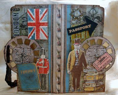 TIM HOLTZ STYLE PASSPORT POCKET FOLDER and TUTORIAL using picture wheel die