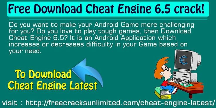 Free Download Cheat Engine 6.5 Crack!