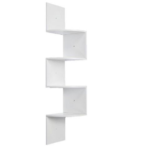 White shelving units | White corner shelf unit