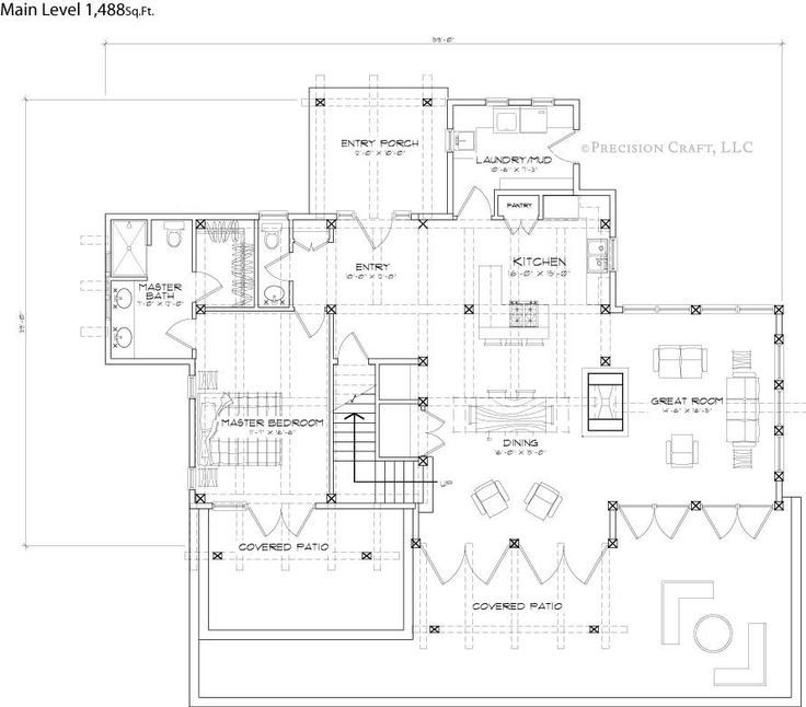 Clearwater Timber Frame Home Floor Plan | Timber frame | Pinterest ...