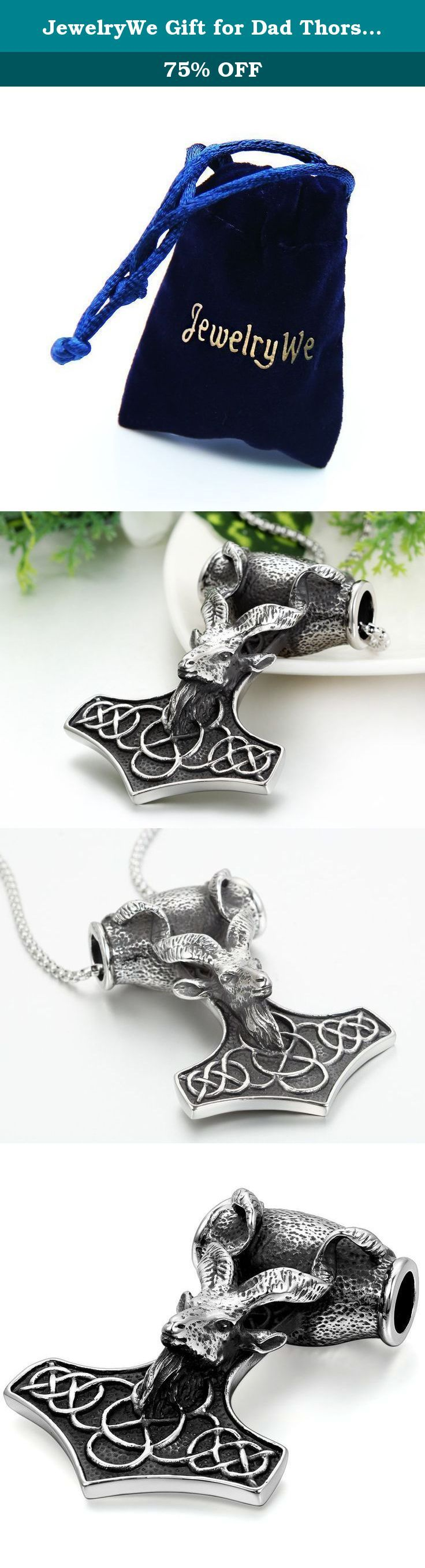 JewelryWe Gift for Dad Thors Mjolnir Hammer Stainless Steel Mens Pendant Necklace 22 Inch, Black Silver. Why choose Stainless Steel Jewelry? Stainless Steel jewelry does not tarnish and oxidize, which can last longer than other jewelries. It is able to endure a lot of wear and tear. And it is amazingly hypoallergenic. Such advantages make it a more popular accessory. High quality stainless steel has high resistance to rust, corrosion and tarnishing, which requires minimal maintenance....