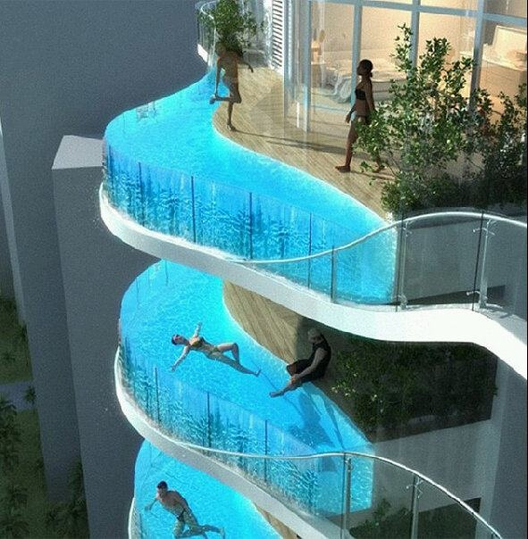Piscinas en IndiaSwimming Pools, Towers, Dreams, Aquariums, Balconies, Mumbai India, Places, Apartments, Hotels