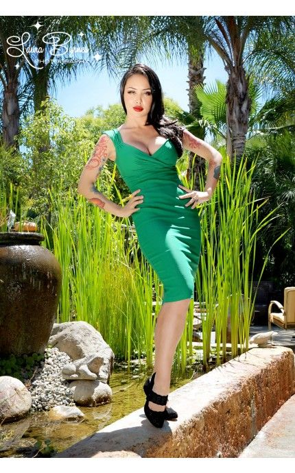 (S) Worn once, excellent condition. Erin dress in lucky green by Pinup Couture. Retails for $96, sell for $70.
