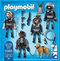 Groupe d'intervention playmobil 5565  http://www.playboutik.com/achat-policiers-du-raid-406080.html