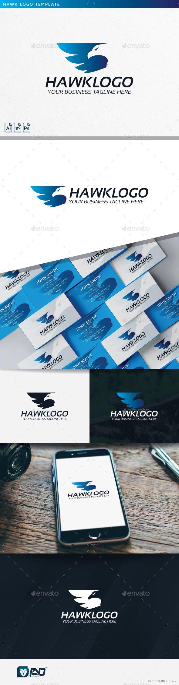 Hawk Logo — Photoshop PSD #media #bird • Available here → https://graphicriver.net/item/hawk-logo/14688808?ref=pxcr
