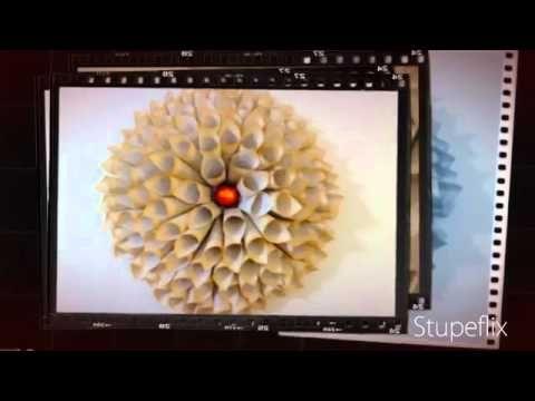 """Tutorial DIY """"Cómo hacer una flor dalia de papel"""" - YouTube"""