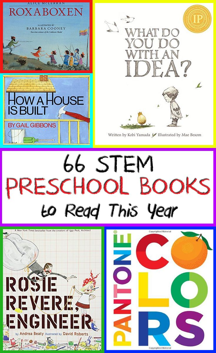 66 STEM books for preschool. cross-curricular with literature and STEM