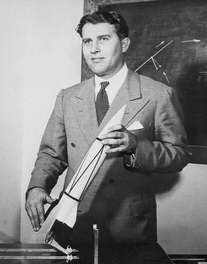 "Wernher Magnus Maximilian, Freiherr von Braun (March 23, 1912 – June 16, 1977) was a German rocket scientist, aerospace engineer, space architect, and one of the leading figures in the development of rocket technology in Nazi Germany during World War II and, subsequently, in the United States. He is credited as being the ""Father of Rocket Science"". And the Allies in their infinite wisdom brought him to America instead of prosecuting him for war crimes for his use of Jewish slave labor"