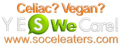 The first and only social eating website for celiacs, vegans and all the people following specific diets! www.soceleaters.com Please share if you find it useful!