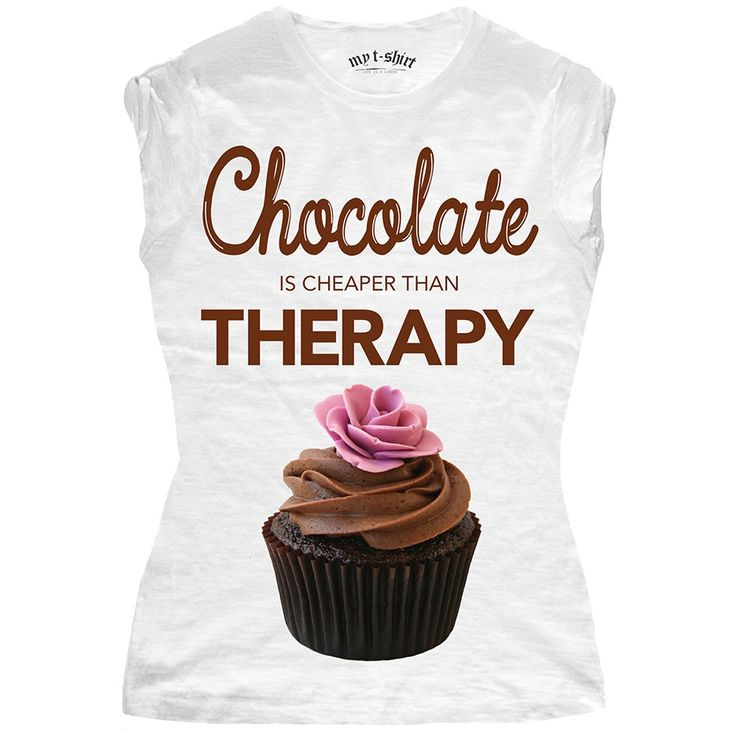 "T-SHIRT DONNA ""CHOCOLATE THERAPY"""