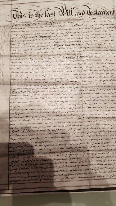 Page 1 of Benjamin Thomas Hodgson will