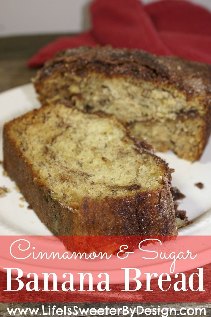Want a moist and delicious way to use up your overly ripe bananas? This banana bread recipe is so good! Ripened bananas won't go to waste with this Cinnamon and Sugar Banana Bread!