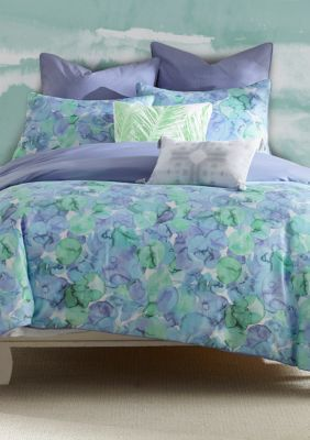 Amy Sia  Sea Of Glass Reversible Comforter Set - Seafoam - Twin Comforter, 1 Pillow