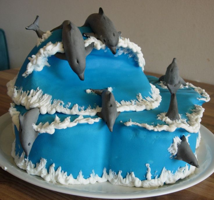 Dolphin Birthday Cake For Our 8 Year Old Daughter