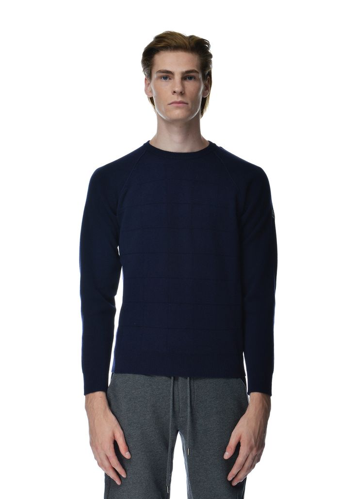 Moncler - Fall Winter 2015 - Menwear // Manglione navy knit in wool