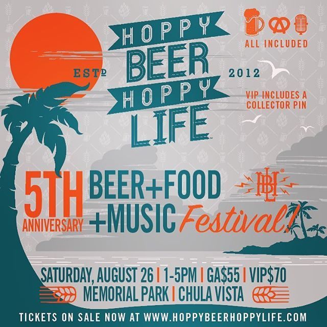 Family and friends special for the rest of the month! Enter code: HBHL to save $10 to our Annibeersary fest. Tickets on sale now! #sandiego #sandiegoconnection #sdlocals #sandiegolocals - posted by Hoppy Beer Hoppy Life ® https://www.instagram.com/hoppybeerhoppylife. See more San Diego Beer at http://sdconnection.com