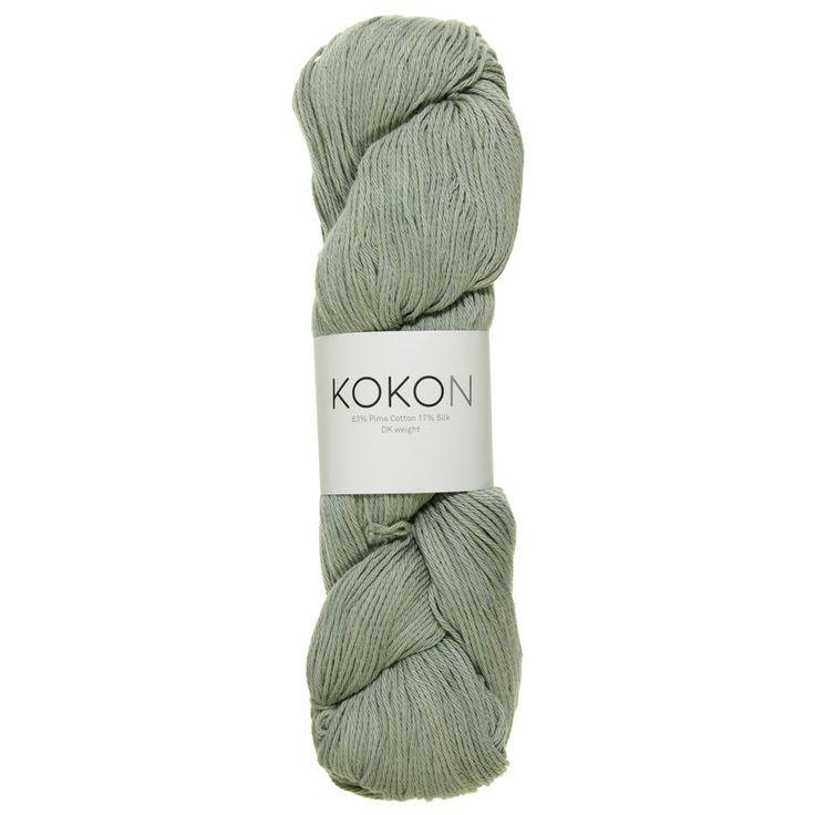 KOKON cotton silk DK in the colour Dew. Available from #kokonyarn
