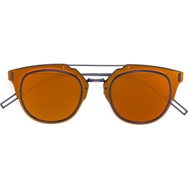 Dior Homme 'Composit' sunglasses Ottica Giulianelli ($460) ❤ liked on Polyvore featuring accessories, eyewear, sunglasses, dior homme glasses, dior homme and dior homme sunglasses