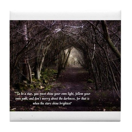 Follow Your Own Path Tile Coaster on CafePress.com