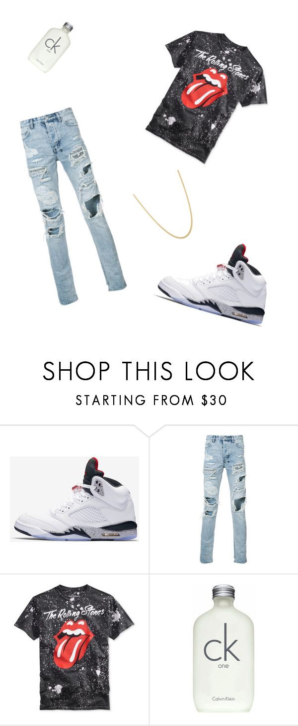 """1st day of school"" by godxz803 on Polyvore featuring NIKE, Ksubi, Calvin Klein, men's fashion and menswear"