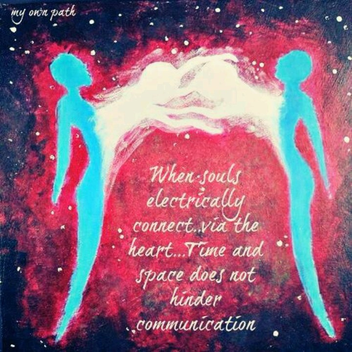 When souls electrically connect via the heart..... time and space does not hinder communication #twinflames #soulmates
