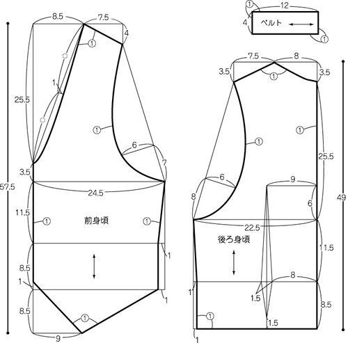 Tatsu это с припуском на шов количества ○ ① ткани.