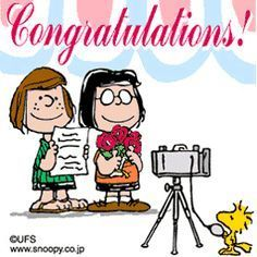 snoopy congratulations images - Google Search | celebrate with snoopy | Pinterest | Peppermint patties, Birthdays and Peanuts