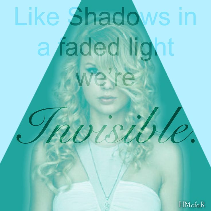 Invisible// Taylor Swift// Taylor Swift