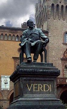 Verdi's statue in the Piazza G. Verdi, Busseto