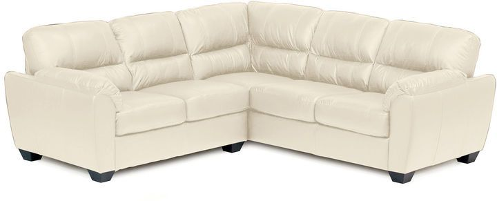 Asstd National Brand Leather Possibilities Pad-Arm 2-pc. Right-Arm Corner Sectional