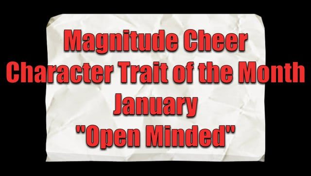 Join.MagnitudeCheer.com (818) 280-8044  Our character trait of the month for January was Open Minded.  Experience our first-rate tumbling classes, divided by ability to increase your child's physical development, with an emphasis on fitness and fun.  Gain confidence, increase mental and physical strength, teach respect for self and others, and instill integrity while developing well-rounded individuals.  Tumbling classes, cheer classes, All-Star teams, private lessons, birthday parties, and…