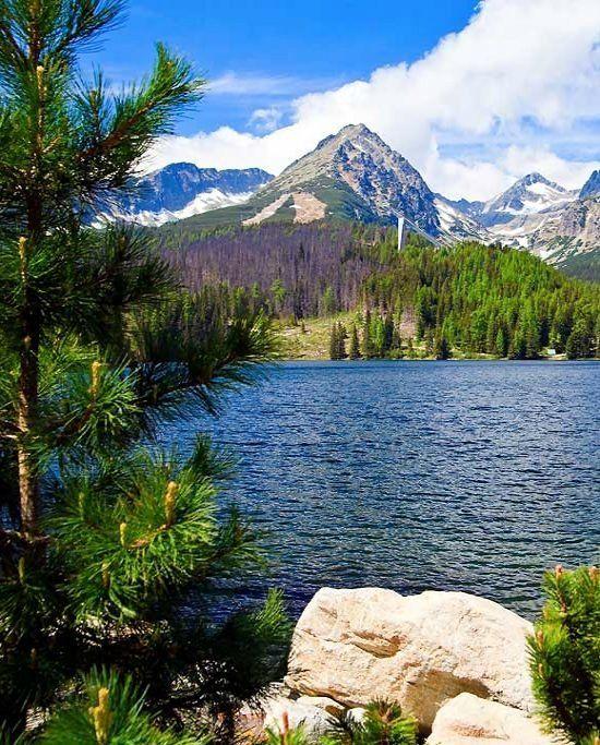 Lake Strbske Pleso at High Tatras Mountains, Slovakia