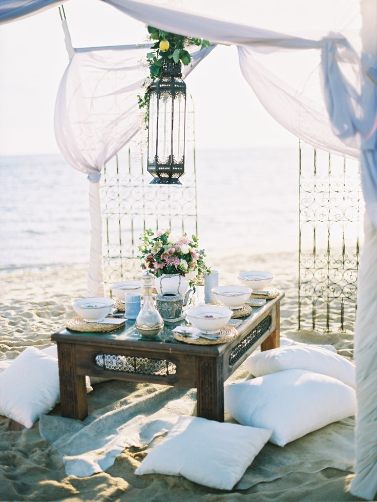 A beachside tablescape | Marrakesh Inspiration Shoot from Stewart Leishman + Intique & Co  Read more - http://www.stylemepretty.com/australia-weddings/2013/11/04/marrakesh-inspiration-shoot-from-stewart-leishman-intique-co/