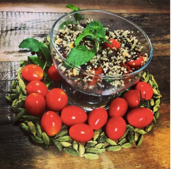Couscous Marroquino de Quinoa com cardamomo #saboreconsciencia #dantasnacozinha #dantasdemedeiros