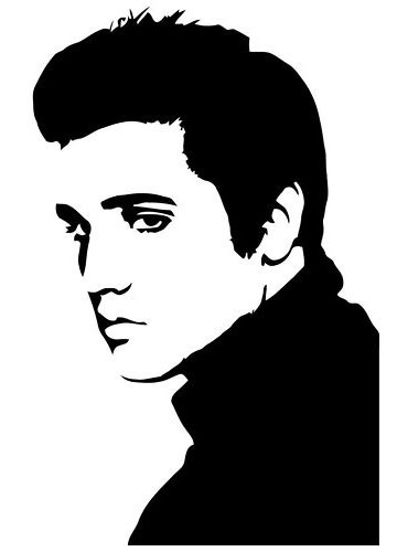 Elvis Pop Art Vinyl Wall Decal by IkonicWalls on Etsy, $15.00