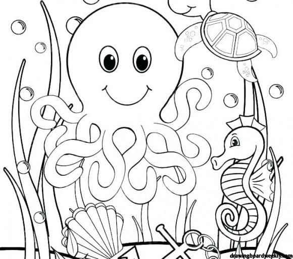 Under The Sea Coloring Pages Ocean Coloring Pages Animal Coloring Pages Monster Coloring Pages