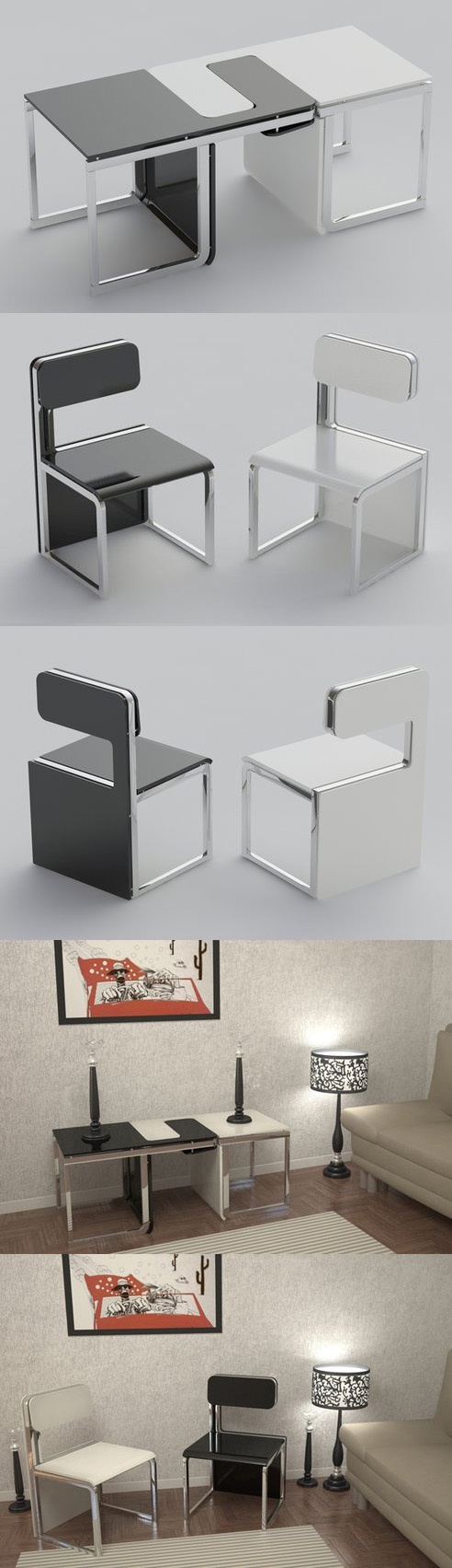 Multi Functional Chair Perfect For Small Apartments