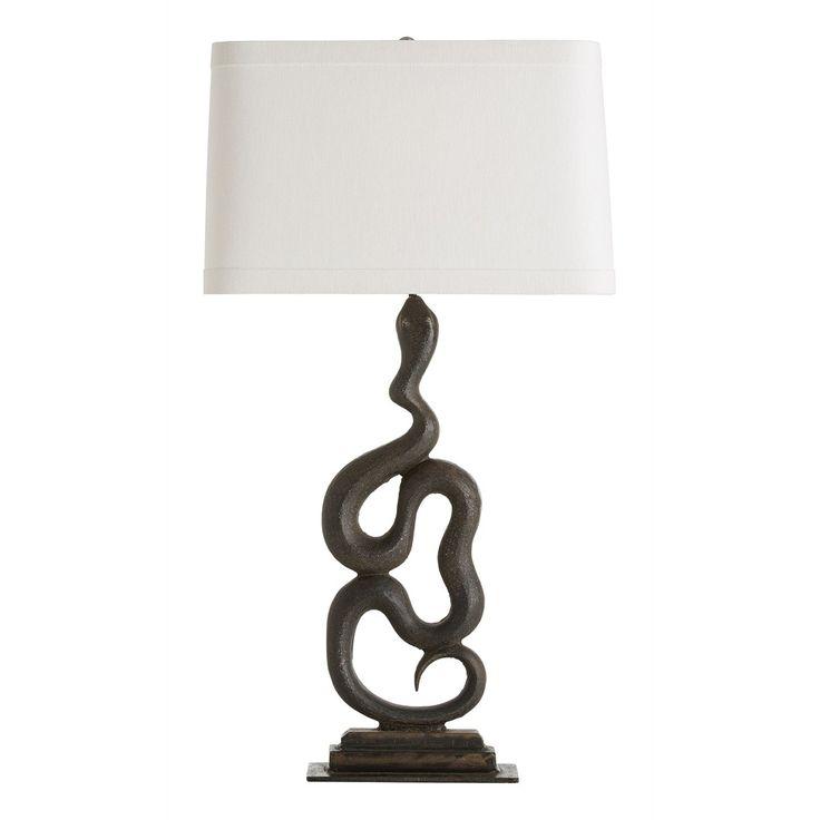 Arteriors home heath snake left facing iron table lamp