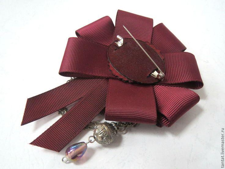 Купить Коллекция брошей Бордо. - бордовый, брошь с камеей, винтажная брошь, брошь ручной работы