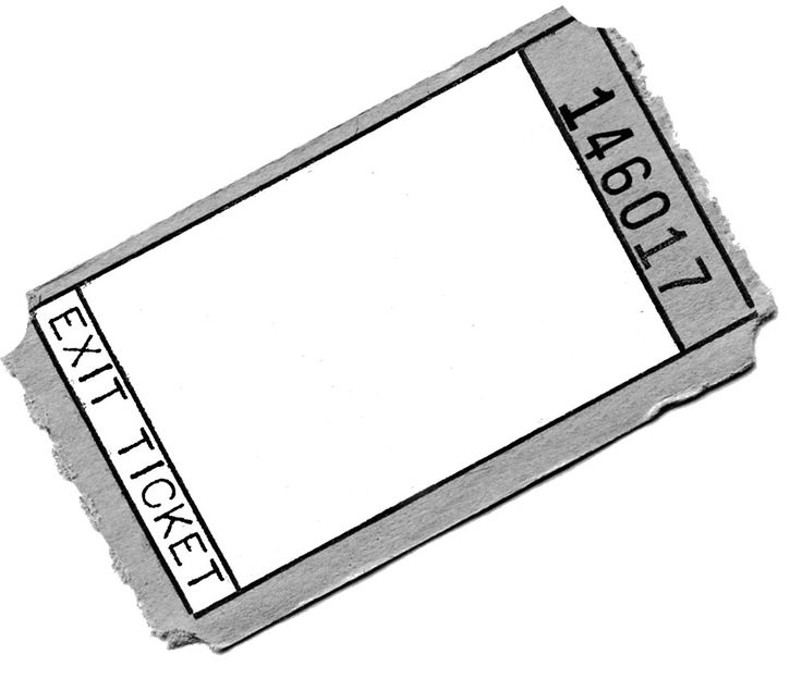 his takes the idea of keeping them on hand one step further. Laminate them and make dry erase exit tickets!  This way I always have them on hand, and I'll never have to make more copie