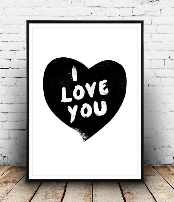 Cadeau de Saint Valentin romantique art Estampe par Wallzilla