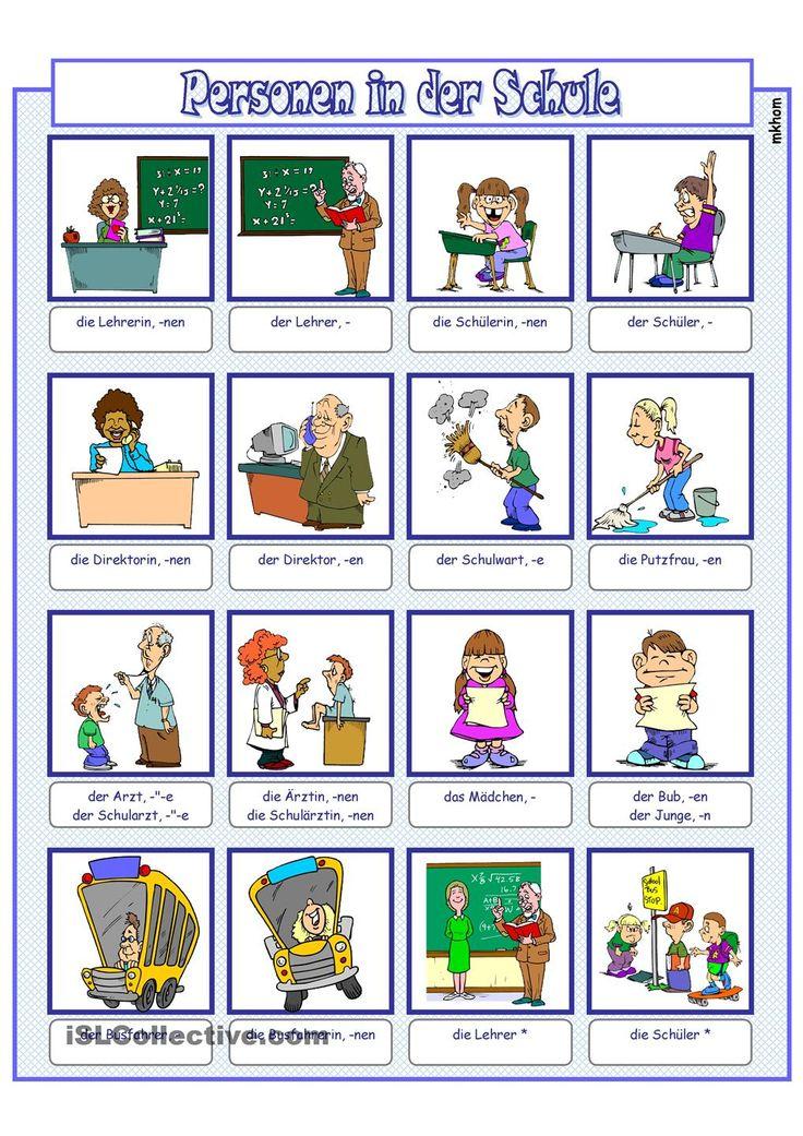 Bildwörterbuch_Personen in der Schule
