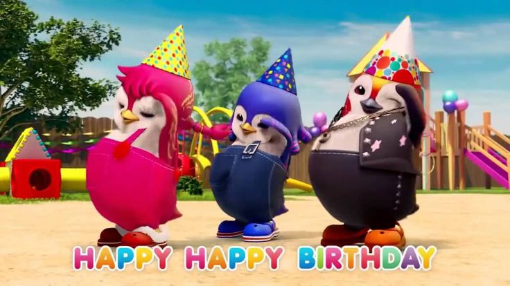 Happy Birthday Song Penguin dance Happy Birthday to you