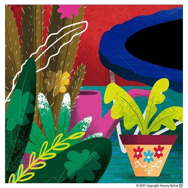 Parte de una historia que he ilustrado para un libro de @unicef 🌵#jhonnynúñez #illustration #ilustración #childrensillustration #artisitoninstagram #wacom #adobe #mexico