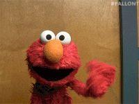 Elmo waving gif